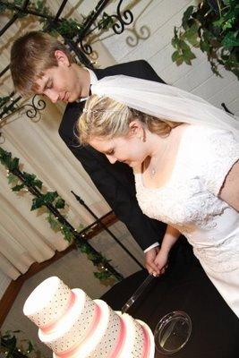 black pearl wedding cake