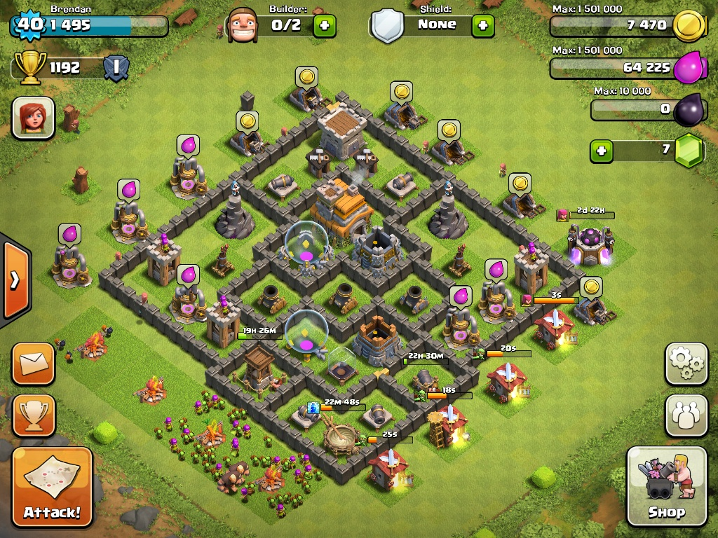 Town Hall 7 best War Base 2