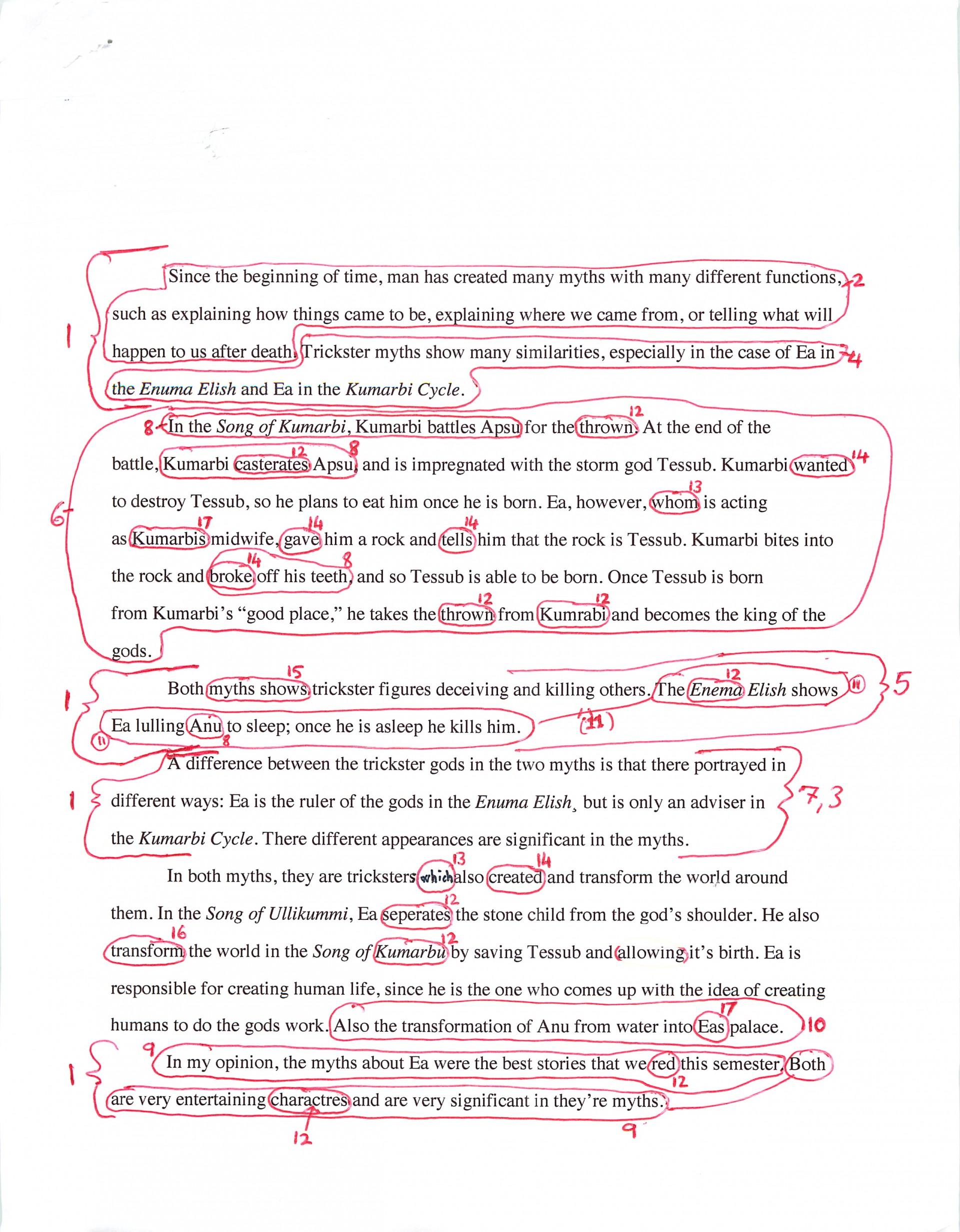 001 Essay Example Correcting Essays Compucenter Ancient