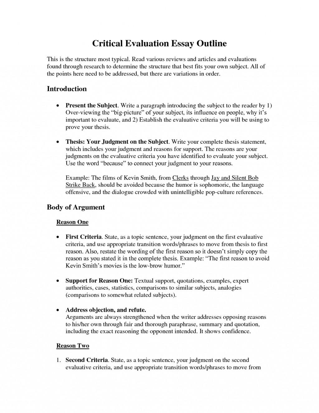 009 Essay Example Critical Evaluation Critically Evaluate