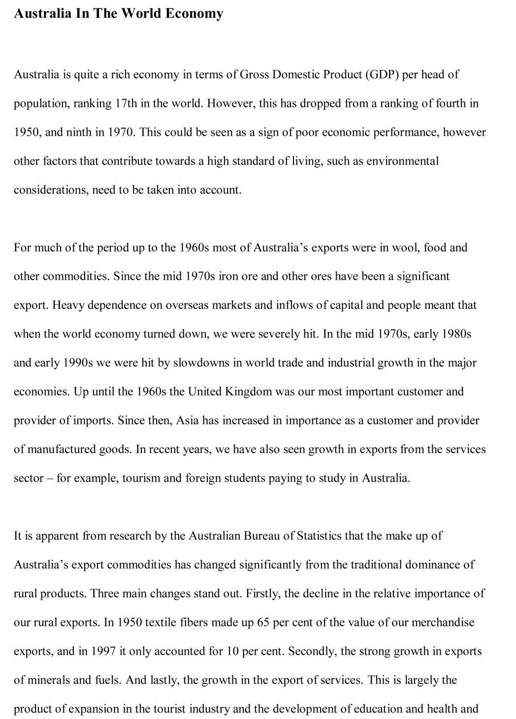 001 Essay Example Ethnographic Economic Sample How To