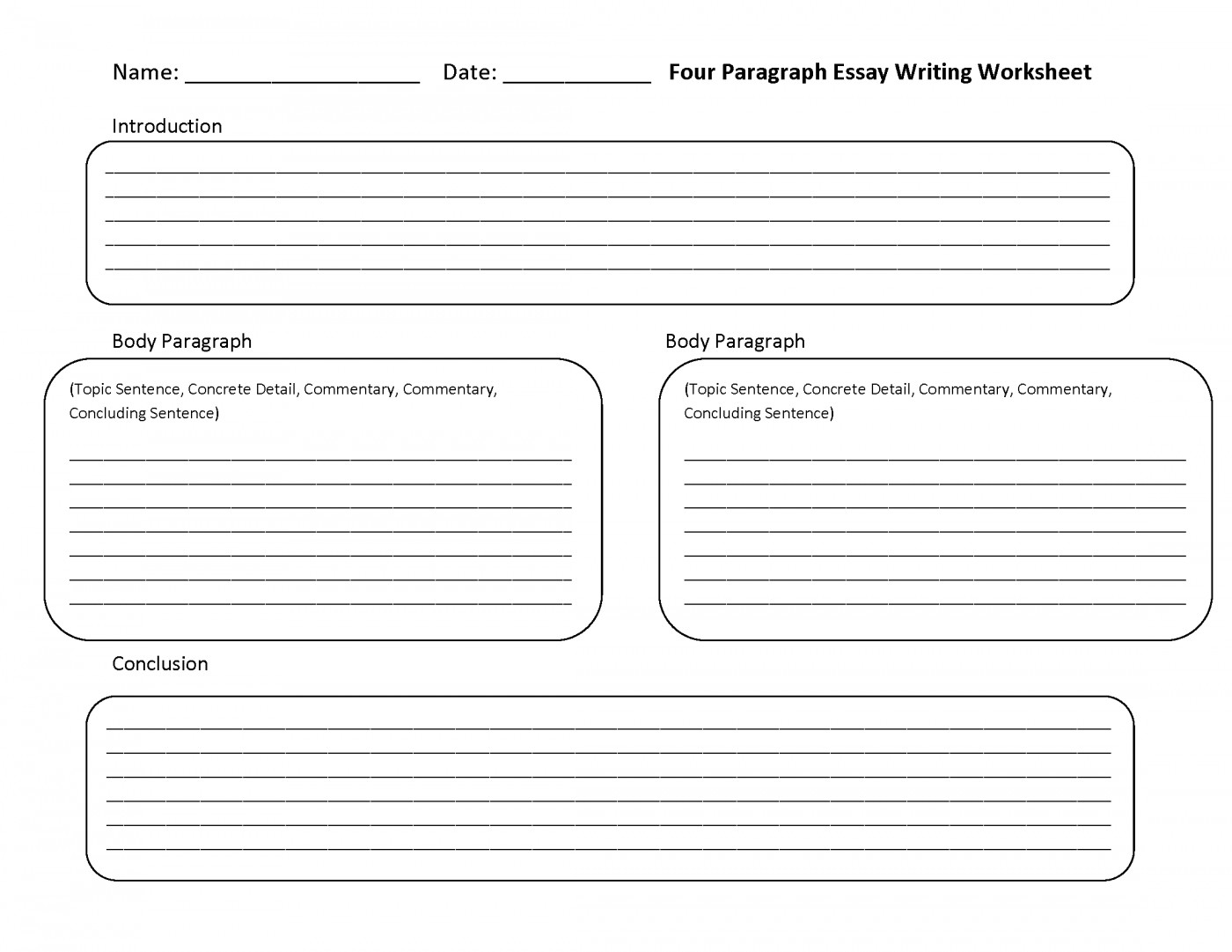 021 Essay Writing Worksheets Grade Thatsnotus