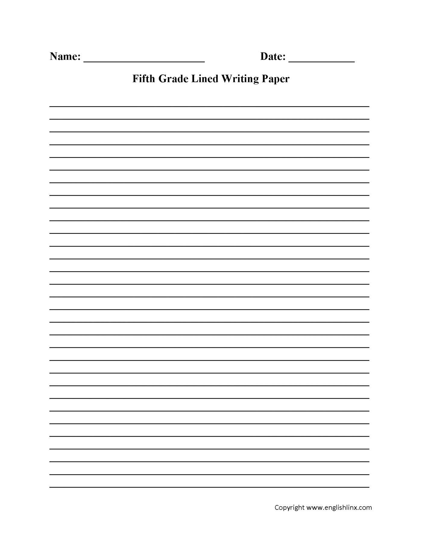 002 Essay Writing Paper Example Business Fifth Amp Kite