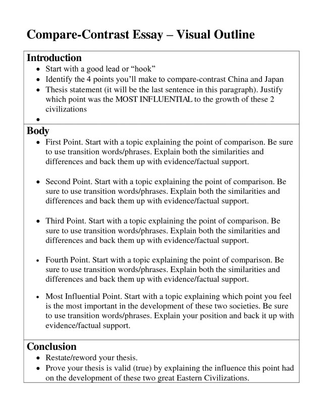 ap world history compare and contrast essay thesis examples   comparative essay outline thesis statement for comparison