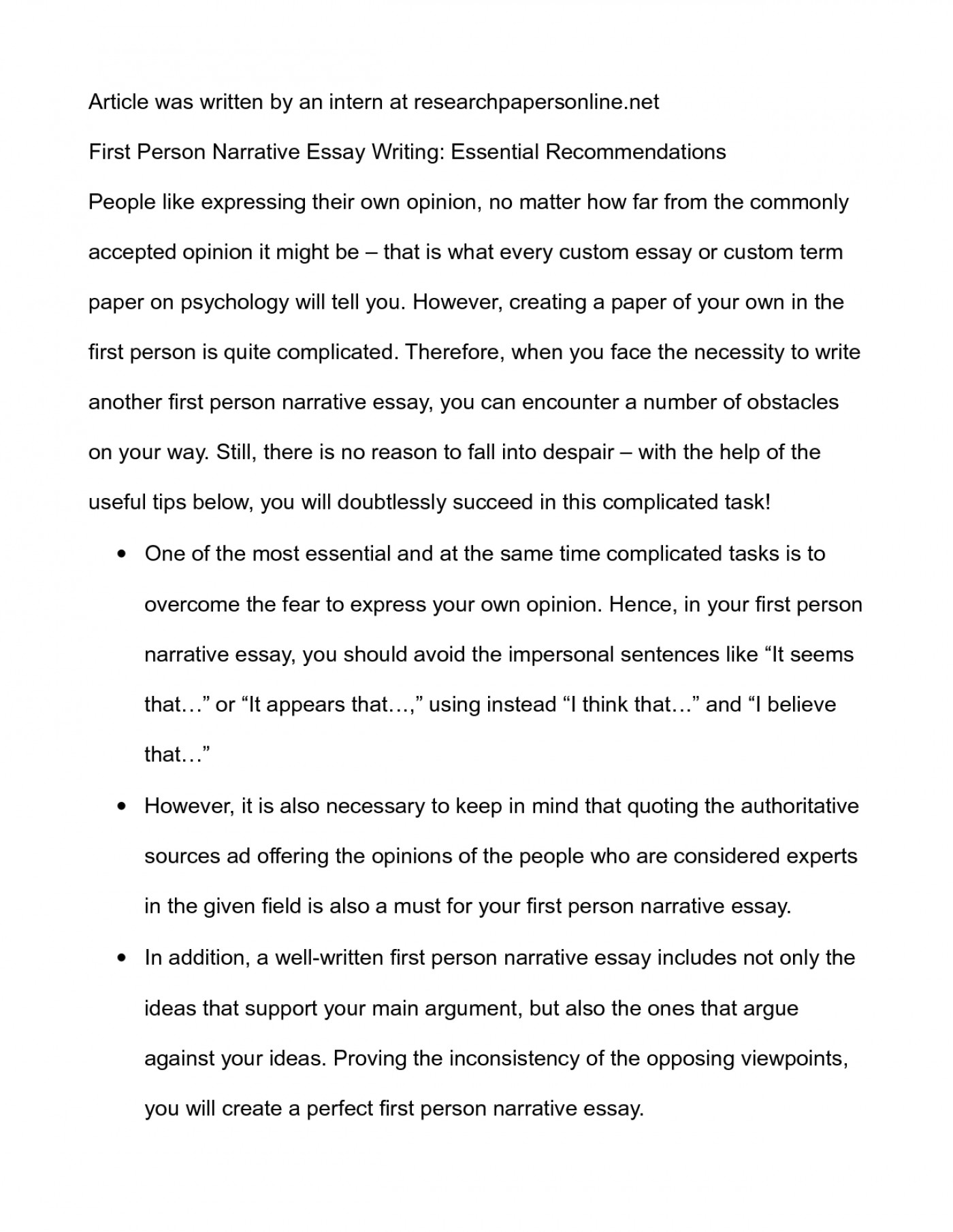 009 Essay Example Third Person Thatsnotus