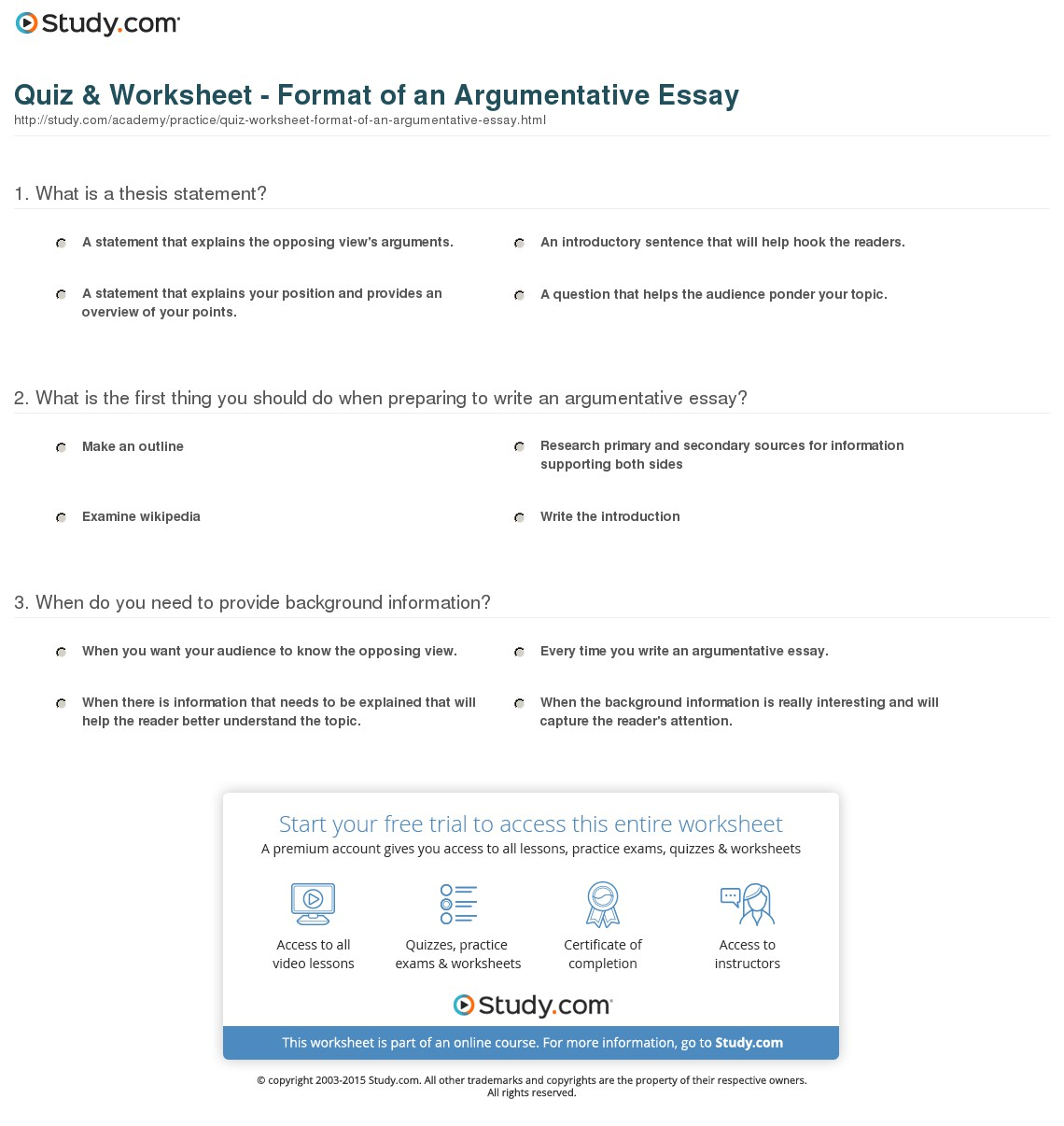 025 Structure Of An Essay Outline Simple Argumentative