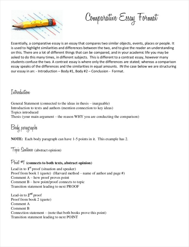 comparative essay thesis examples  applydocoumentco