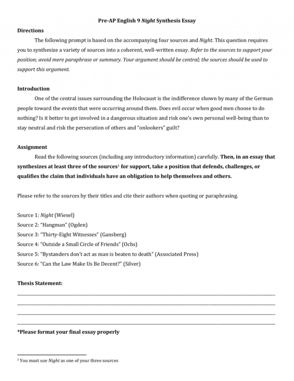 008 1 Synthesis Essay Format Thatsnotus