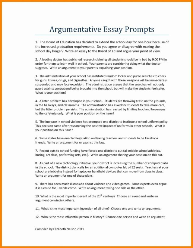 argumentative essay hook examples pdf