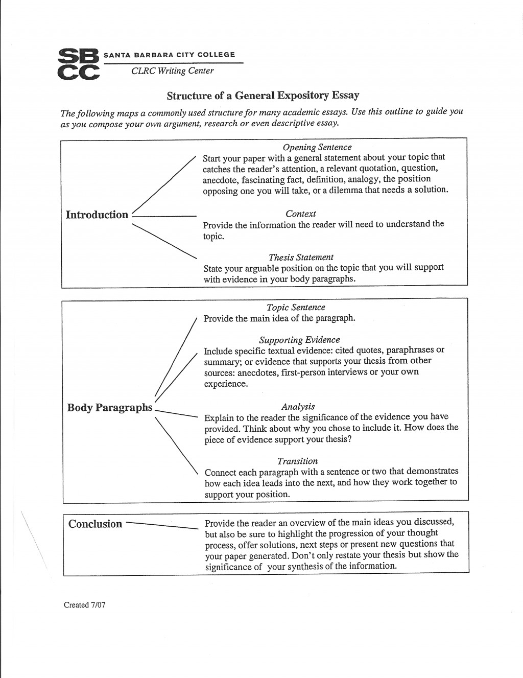 011 Opinion Essay Outline Example Geds Writing Examples