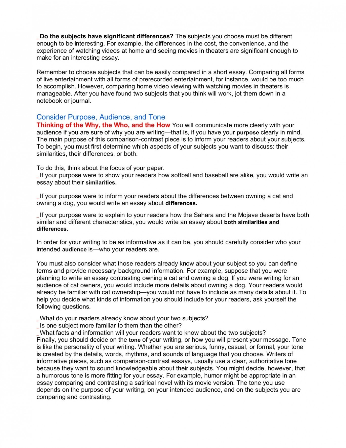 003 Comparing And Contrasting Essay Example Satire