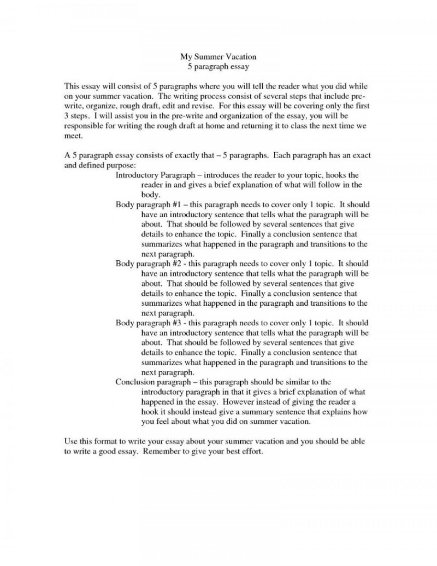 Summer essay example