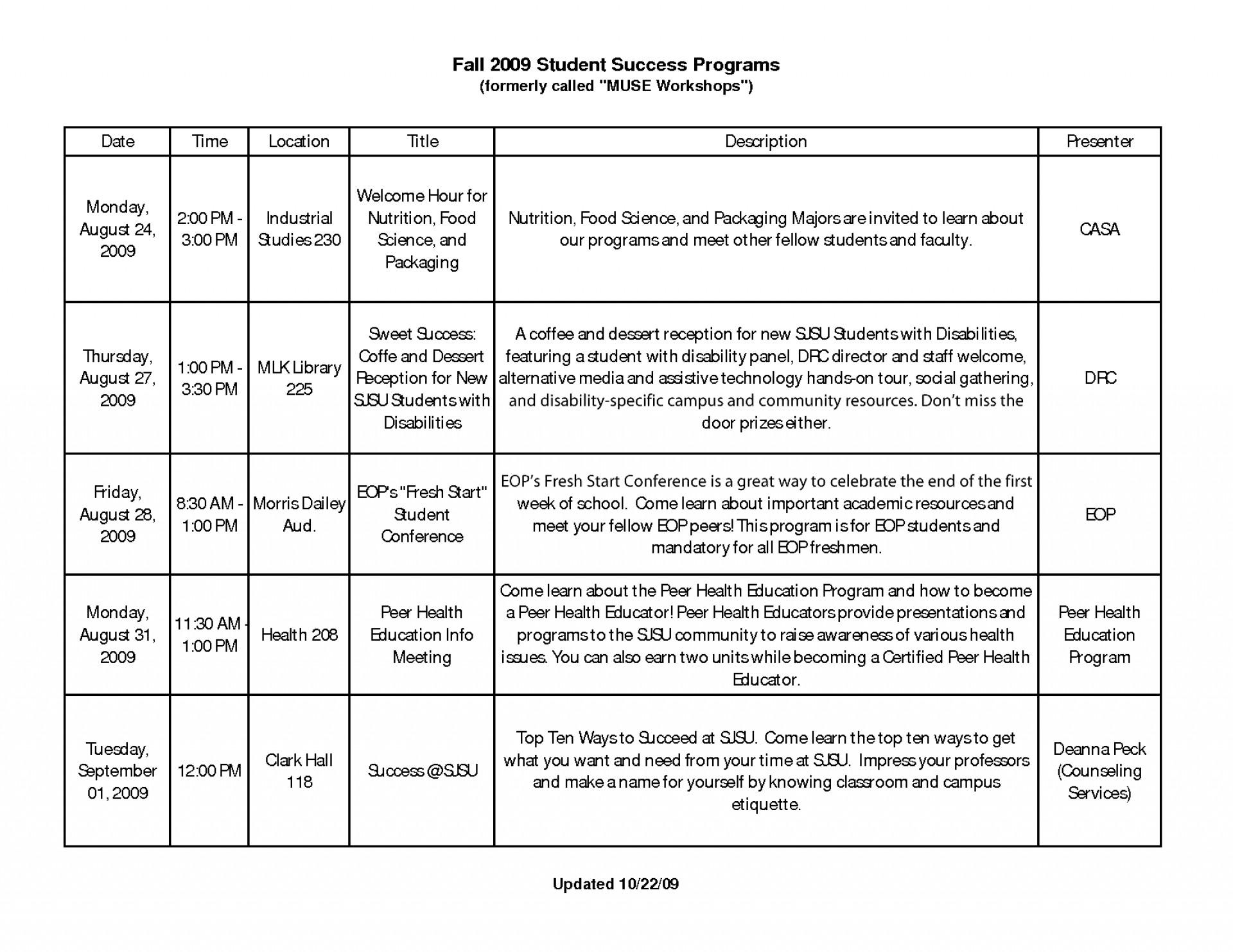 Student Time Management Worksheet