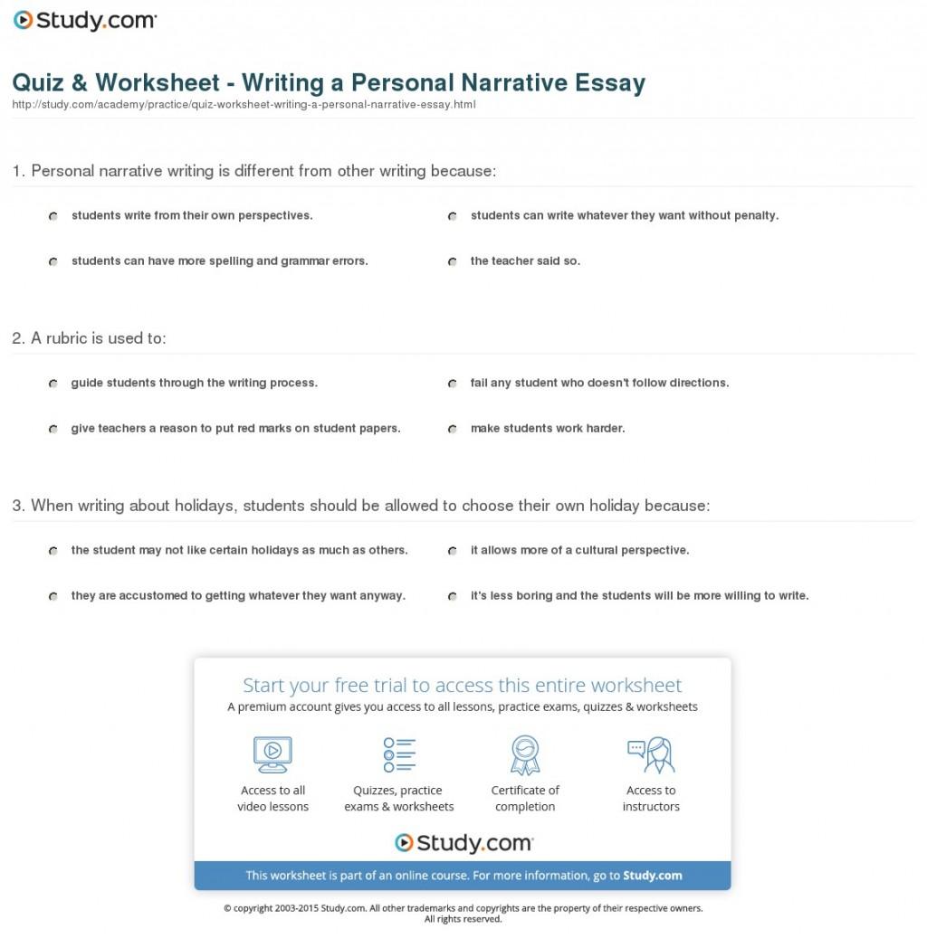 011 Personal Narrative Essay Example High School Examples