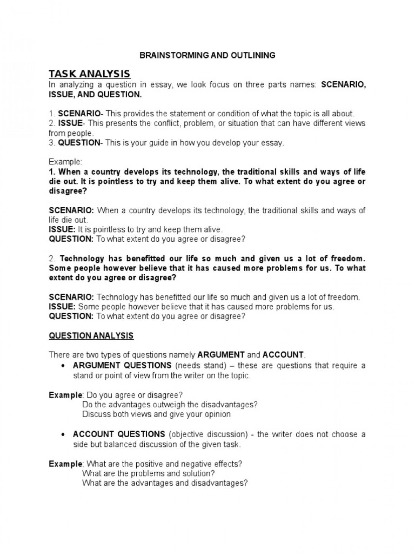 011 Quiz Worksheet Why Brainstorming S Important Essay