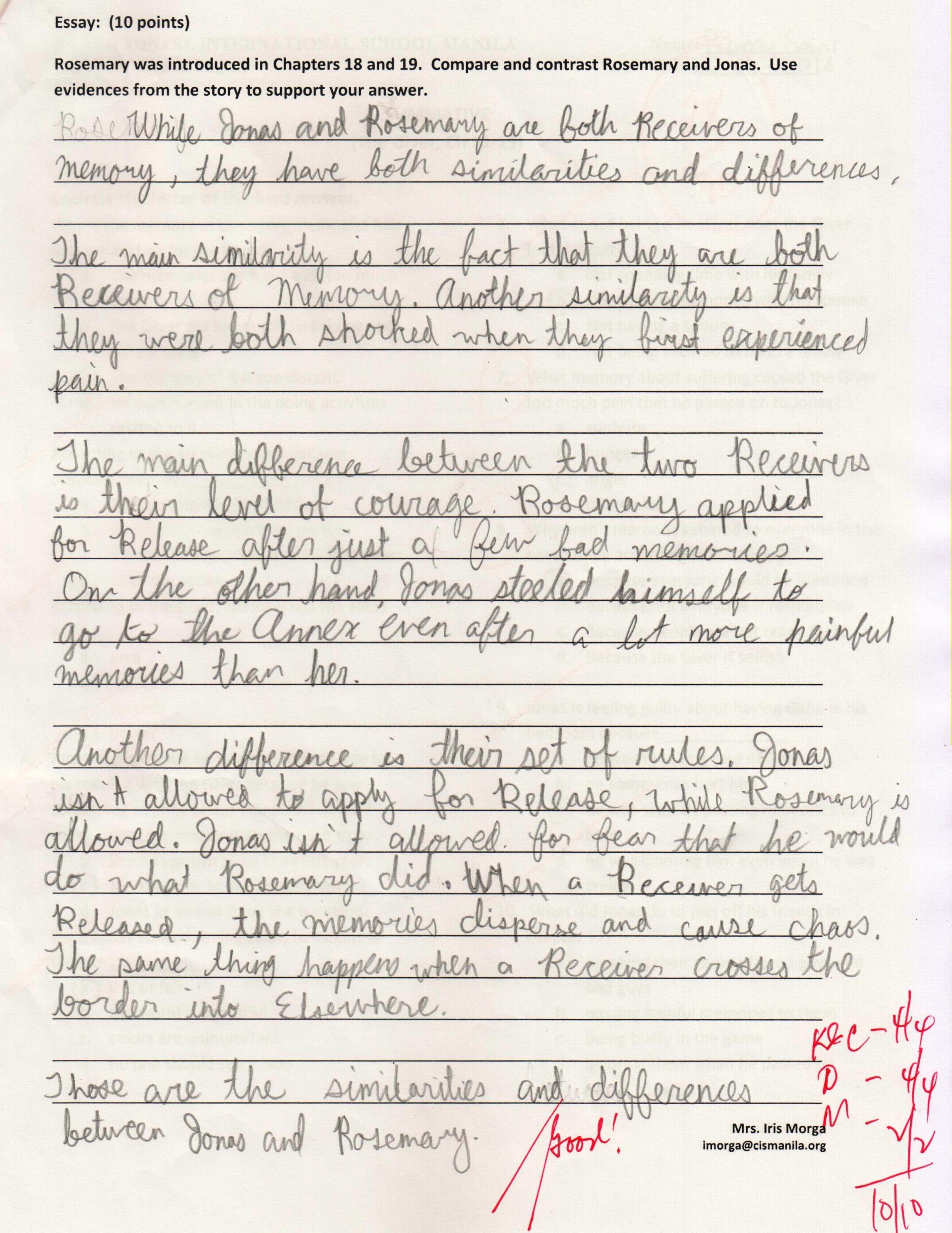 013 Grade Essay Example Story Writing For Students