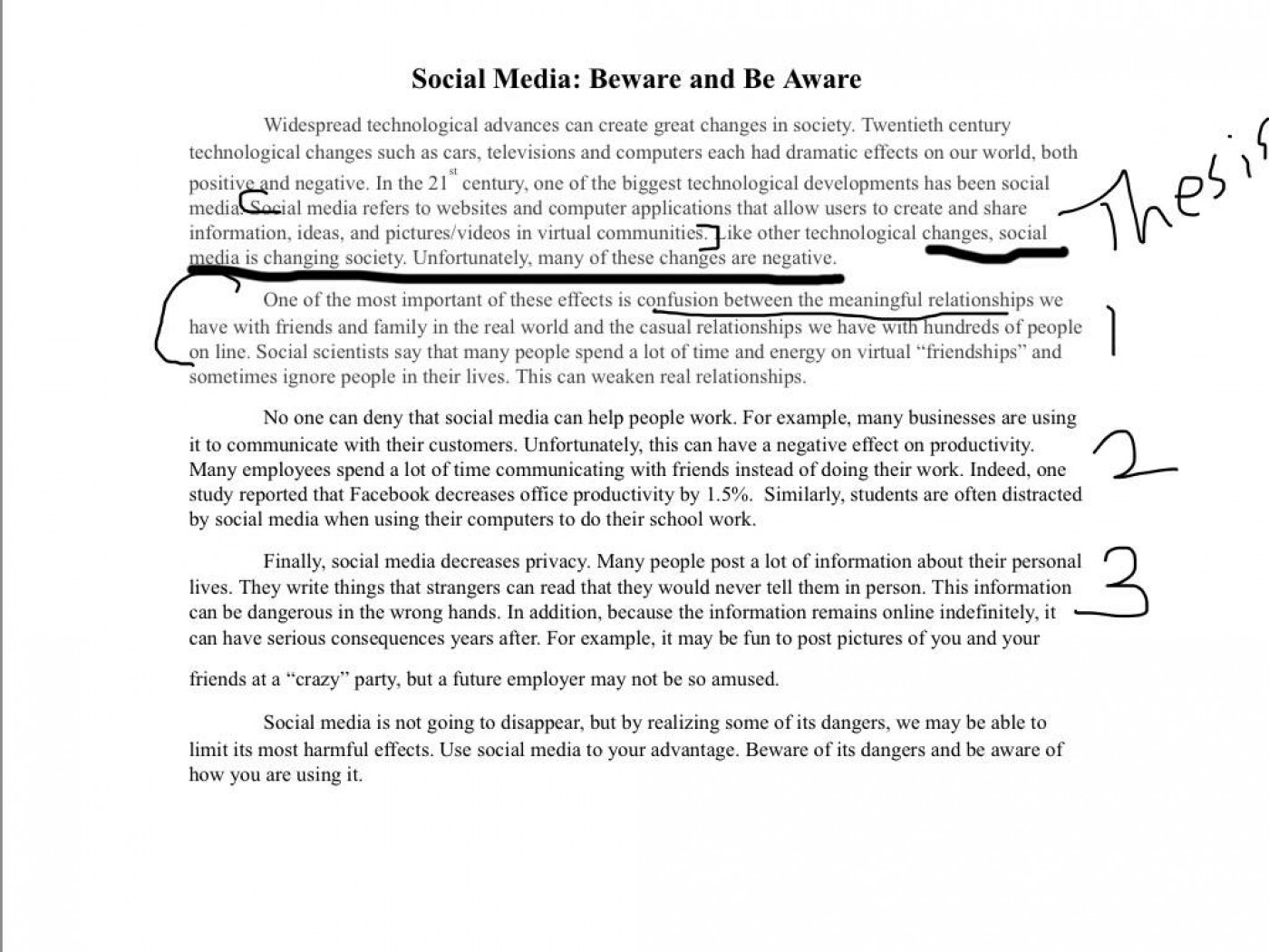 007 Social Media Essay Introduction Example Thatsnotus