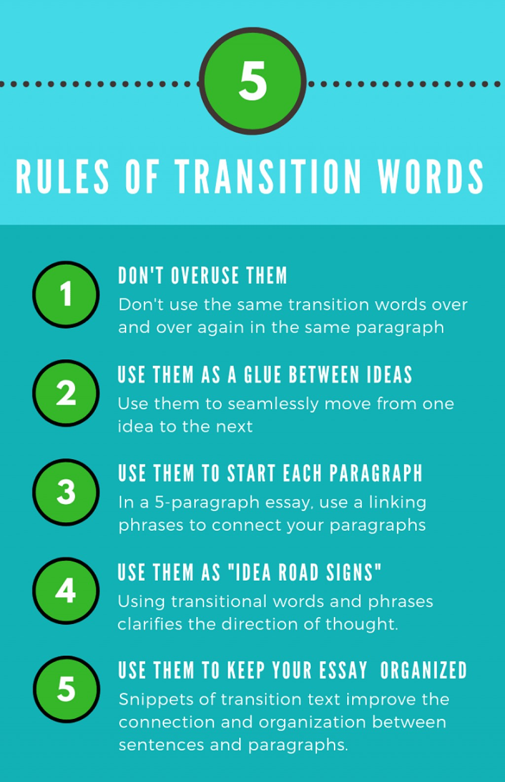 009 Transition Words Essay Example Sentences Examples For