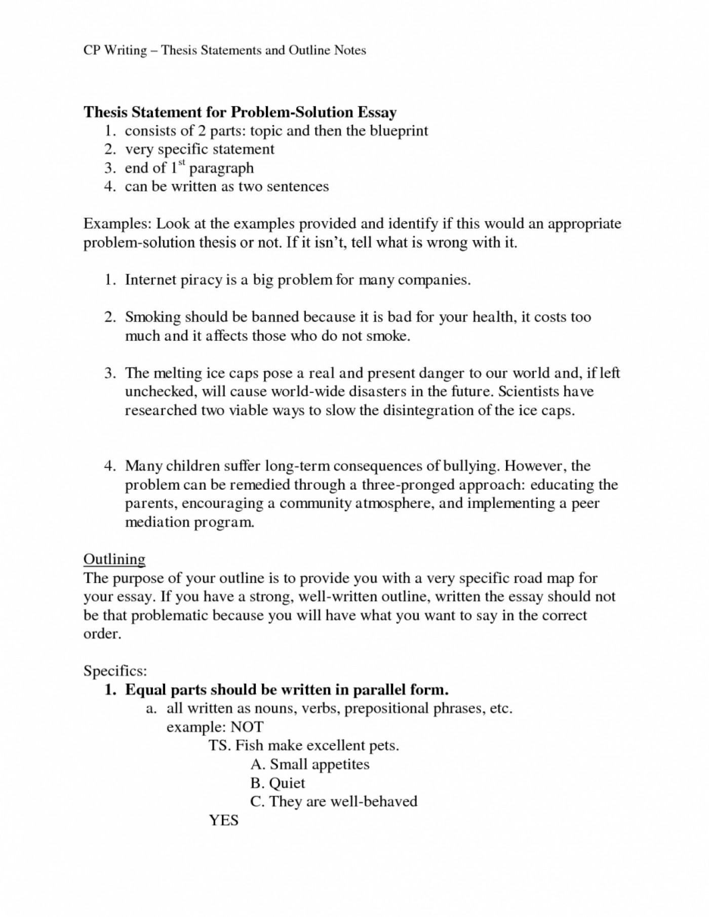 Comparative Essay Outline Template