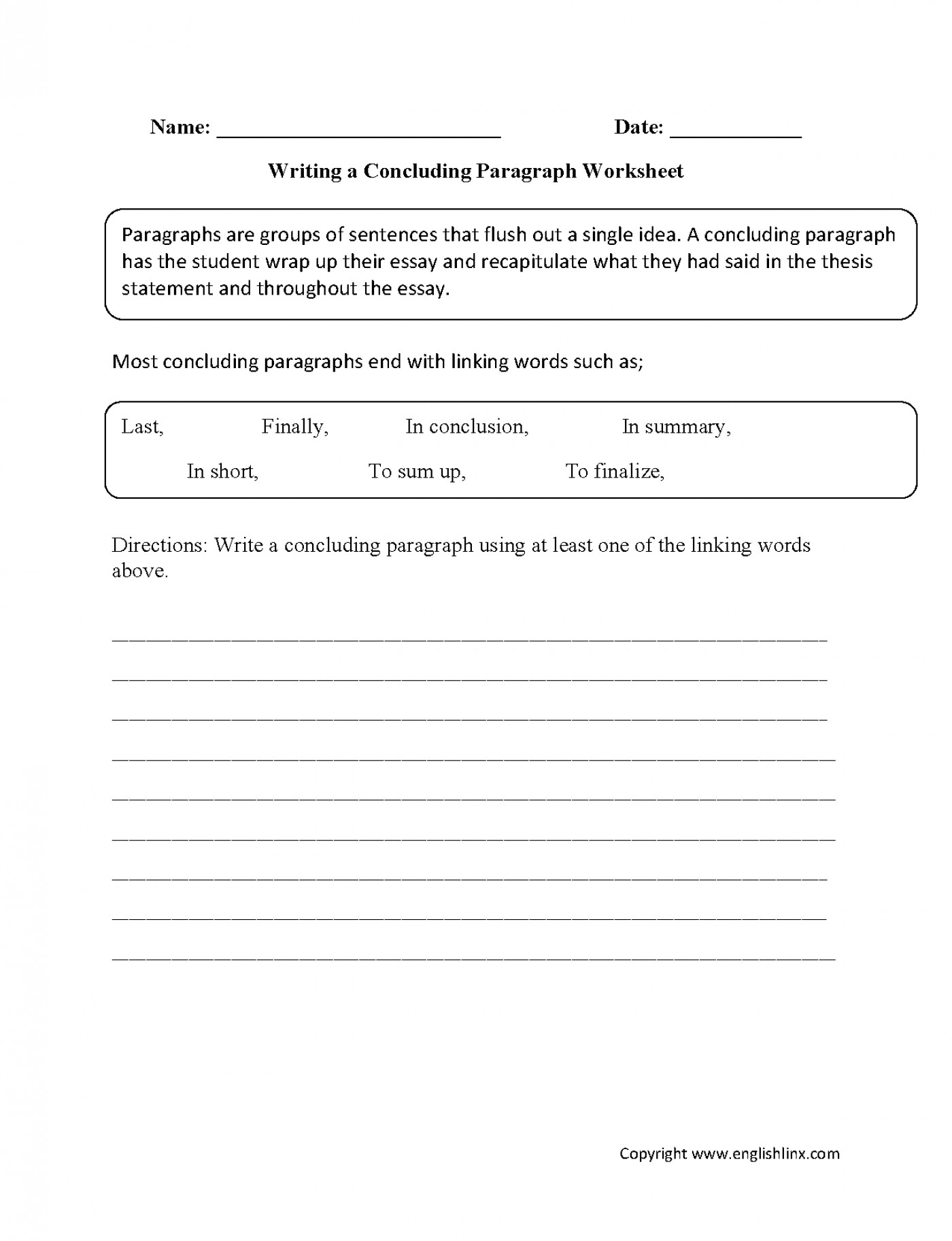 010 Essay Writing Worksheets Thatsnotus