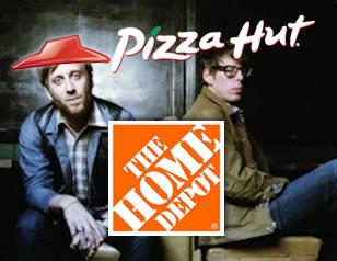 Black Keys vs. Pizza Hut vs. Home Depot Crop