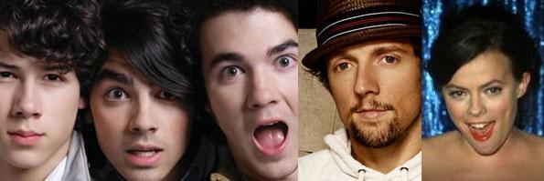 Jonas Brothers vs. Jason Mraz vs. Lenka on ThatSongSoundsLike.com