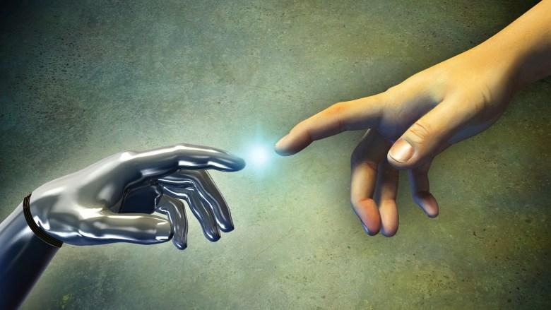 merging of man and machine
