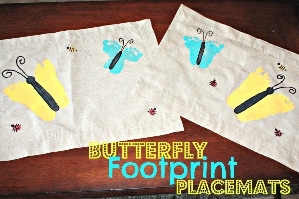 Buttefly Footprint Placemats