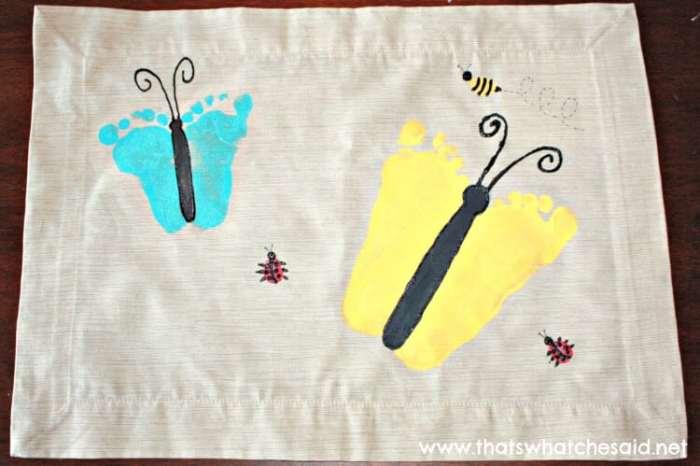 Butterfly Footprint Place Mats