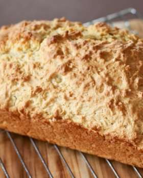 3 ingredient beer bread. It's perfect for soups, dips, and even just with butter!