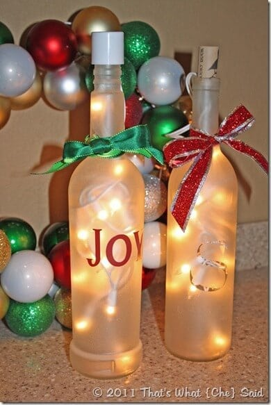 Frosted-Wine-Bottle-Luminaries