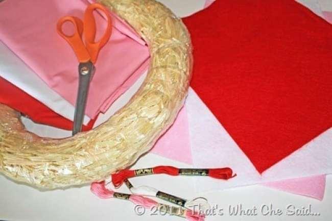 Valentine's Day Wreath Supplies