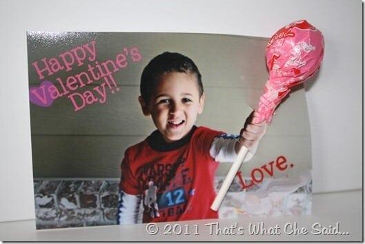 Valentine's Day Sucker Card