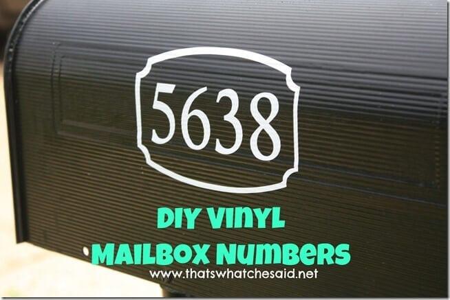 DIY Vinyl Mailbox Numbers