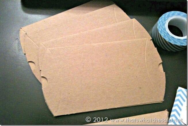 Flat Kraft Pillow Boxes