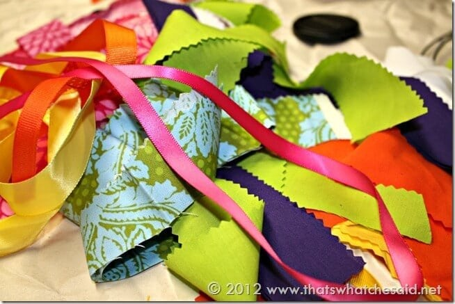 Fabric Scrap Strips