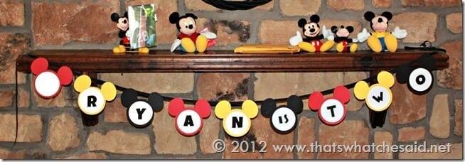 Mickey Birthday Banner