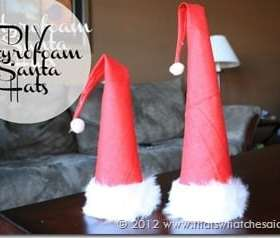 DIY-Styrofoam-Santa-Hat-Decorations_