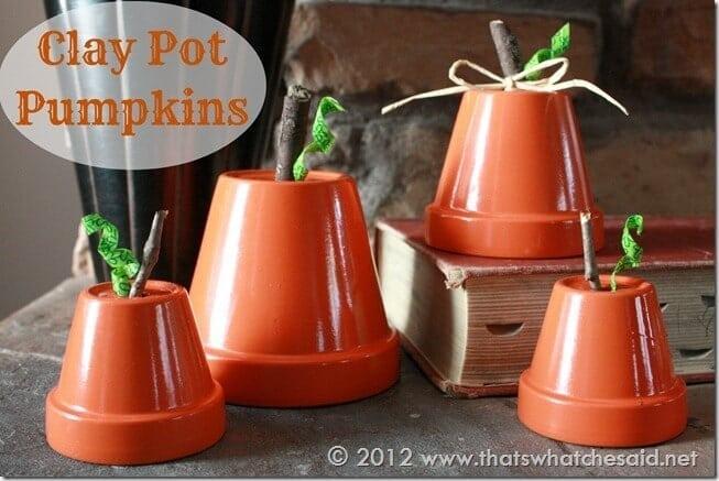 Clay Pot Pumpkins