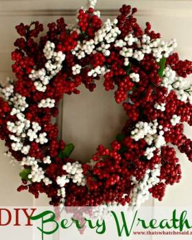 Berry Wreath from Dollar Store Supplies