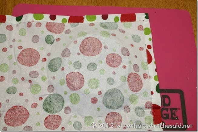 Fabric on Mod Podge Plate