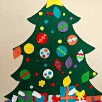 Children's Felt Christmas Tree