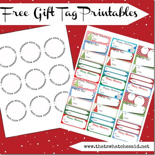 Free Printable Gift Tags at thatswhatchesaid.com