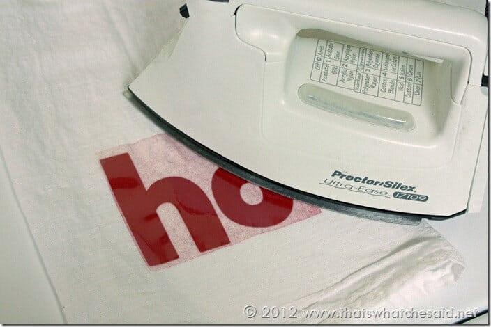Iron on heat transfer
