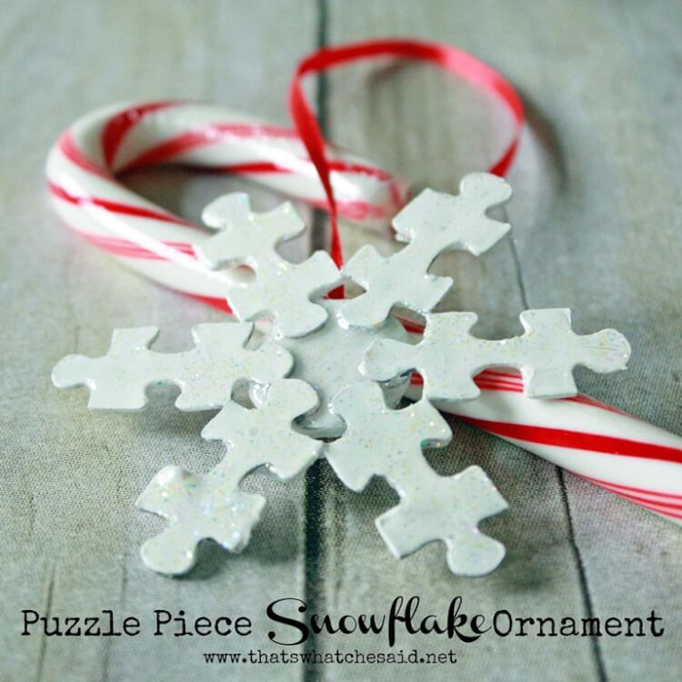 Puzzle Piece Snowflake Ornament That S What Said