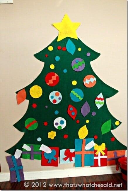 How to make a felt Christmas Tree at thatswhatchesaid.com
