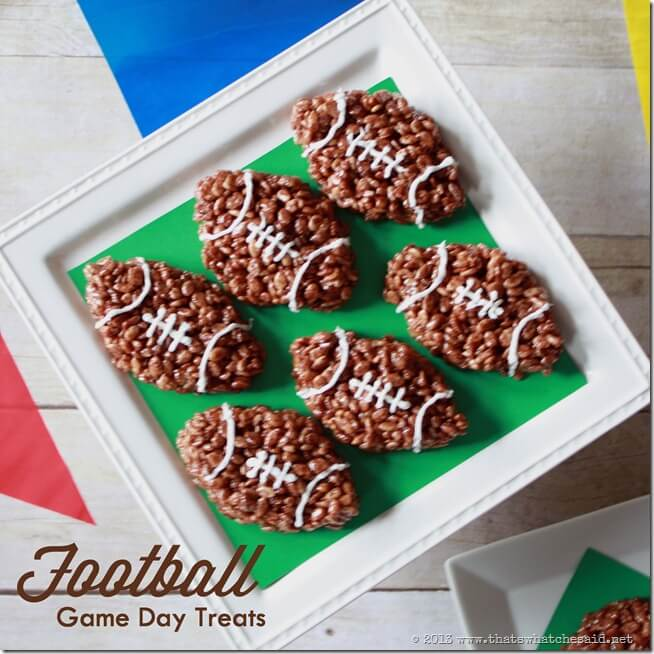 Football Rice Krispie Gameday Treats