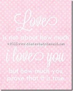 Love Is 8 x 10 white