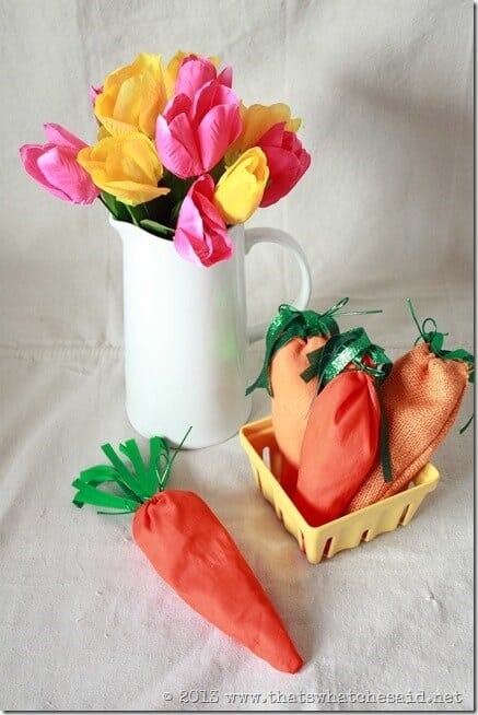 Easter Carrot Treat Bags made of Fabric