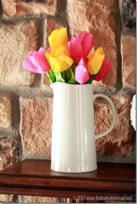Pitcher of Tulips